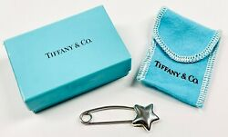 Vintage Signed And Co. Sterling Silver Star Diaper Safety Pin 925/1000 2