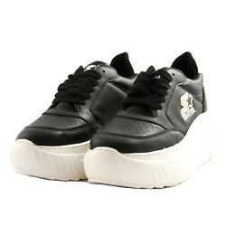 Shoes Sneakers Casual Starter Black Label Woman Black Leather Rubber Upturn