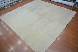 11and0396x11and0396 Rug | Modern Luxury Hand Knotted Cream-cream Zero Pile Area Rug