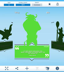 Topps Disney Collect - Daily Disney July 02 - Chief Bogo Silhouette Digital