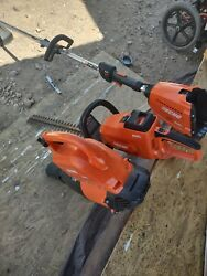 Echo 58v Cordless Jet Fan Leaf Blower Hedge Trimmer And Weed Wacker Read Dis