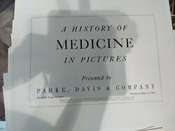 A History Of Medicine In Pictures 41prints By Parke Davis And Co 1950andrsquos 60andrsquos Rare