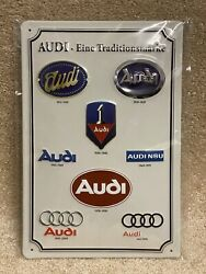 Vintage Audi Logo History Germany Plate From Audi Museum In Germany