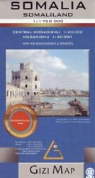 Somalia Geographical Map 11750000 Gizi Geographical Brand New