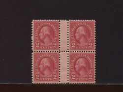 634a Washington Type Ii Mint Block Of 4 Stamps W/horizontal Gutter Nh By 288
