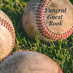 Funeral Guest Book Baseball Sports Fan Player Memorial By Ever After Guestbooks