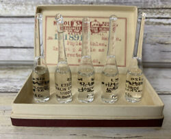 Lot Of 5 Antique Adrenalin Chloride Glaseptic Ampoules Parke Davis And Co No 88