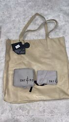 Authentic Anthropologie Day And Mood Leather Heather Beig Tote Bag Purse Shoulder
