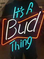 It's A Bud Thing - Neon Sign 1992 Works