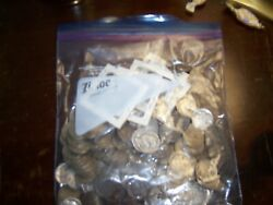 Lot Of 220+ Buffalo Nickel 5 Cent Coin And V-nickels Unsearched