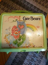 1983 Care Bears Plastic Lunch Box Aladdin 80's With Thermos