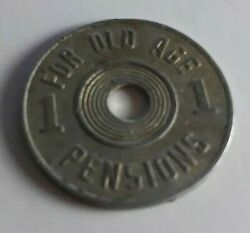 1936 - 1937 Oklahoma Consumerand039s Tax Token For Old Age Pensions