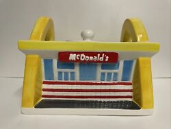 Mcdonalds Golden Arches Cookie Jar By Treasure Craft Brand Nice Condition