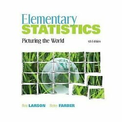 Elementary Statistics Picturing World 5th Fifth Edition By Ron Larson Vg+