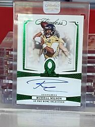 2020 Flawless Football Russell Wilson Pro Bowl Ink Emerald Auto 2/2 Seahawks