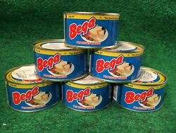 6 Cans Of Bega Real Canned Cheddar Cheese 7.05 Oz. Ea., Long Term Survival Food