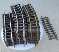 35 Pc. Lot Lehmann Lgb Straight, And Curved G-scale Track 1000, 1200 Brass And Tin
