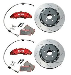 Blitz 85104 Front Big Brake Kit For Toyota 86 Zn6 2012apr- Racing Pads