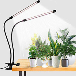 Led Grow Light,6000k Full Spectrum Clip Plant Growing Lamp With White Red Leds 4