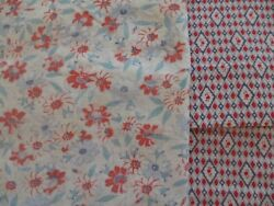 Vintage Cotton Textile Feedsack Lot Of 2 Pillowcase Used Remnant Piece