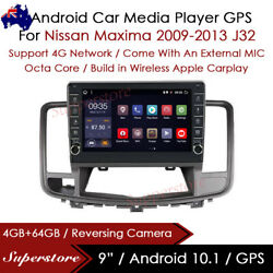 """9"""" Android 10.1 Car Stereo Non-dvd Gps Radio Head Unit For Nissan Maxima 09-13"""