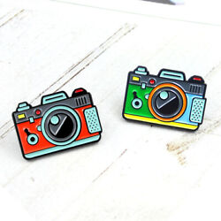 New Fashion Retro Camera Chest Brooch Jewelry Enamel Pins Clothes Lapel Badge