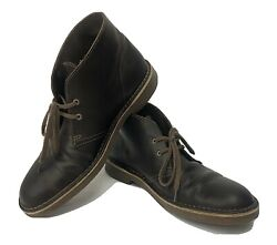 Clarks Desert Chucka Men's Ankle Boots 9 M Shoes Leather Brown