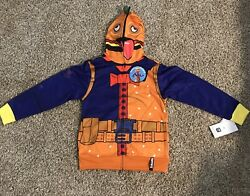 Fortnite Cosplay Zippered Hoodie Size Youth Medium Nwt Free Shipping