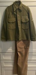 Wwii -82nd Airborne- Us Army Paratrooper Re Military Uniform Jump Coat/jacket 52
