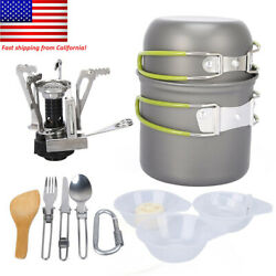 Camping Cookware Mess Kit Backpacking Gear amp; Hiking Outdoors Picnic Bug Out Bag $34.99