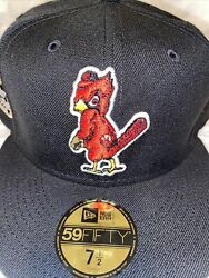 7 1/2 St. Louis Cardinals Black 1957 All Star Game Red Bottom Fitted Hat