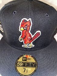 7 5/8 St. Louis Cardinals Black 1957 All Star Game Red Bottom Fitted Hat