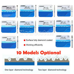 4 Models Optional 100x Dental Diamond Burs Two Layer For High Speed Handpiece