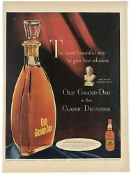 1954 Advertising Old Grand Dad Classic Decanter Fine Whiskey Color Print Ad