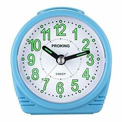 Analog Alarm Clock for KidsSilent Non Ticking Travel Alarm Clock with Blue 503