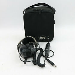 Aviation Bose X Ahx-32-04 Single Plug Helicopter Pilots Headset W/case