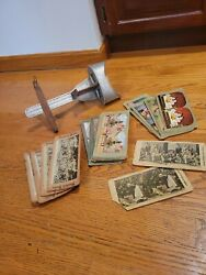 Antique Perfecscope Stereoscope View Finder And Lot Of 50 Cards - Religous Asia