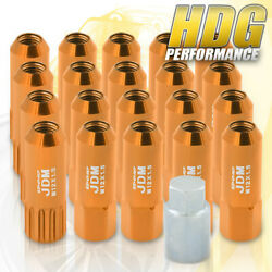 M12x1.5mm Locking Lug Nuts Wheels Extended Aluminum 20pieces Set Gold For Saturn