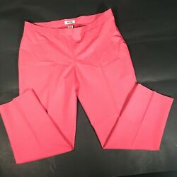 Moschino Cheap And Chic Pink Red Check Print Straight Leg Pants Size 12