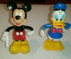 Disney Mickey Mouse Donald Duck Movable Bends Arms Legs Figurines Collectibles