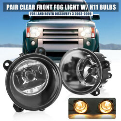 2x Front Fog Light Lamps For Land Rover Discovery 2/3 Range Rover Sport L322