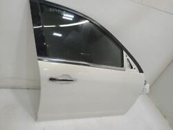 2006-12 Ford Fusion Passenger Front Rh Door Without Side Moulding Holes White
