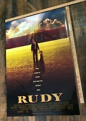 Vintage Movie Poster Rudy Original One Sheet David Anspaugh D/s Iconic Rolled