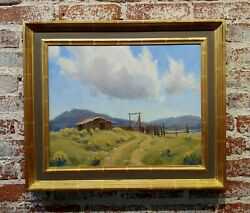 Katherine Wipfler -old Ranch In A Western Landscape -oil Painting