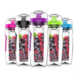 1000ml Water Bottle Gourd Fruit Infuser Sports Bicycle Bottles Cups Juice