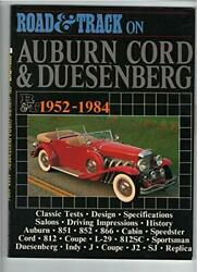Road And Track On Auburn, Cord And Duesenberg, 1952-1984 By Brooklands Books New