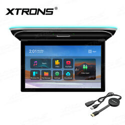 Touch Screen 15.6 Android 9.0 8-core 16g Car Roof Monitor Wifi +airplay Dongle