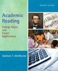 Academic Reading College Major And Career Applications By Kathleen T. Mcwhorter