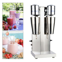 Commercial Double Head Milk Shake Machine Stainless Steel Drink Mixer Juicers Us