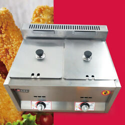 12l Propane Ng Gas Fryer Dual Pot Cooking Stove Cooker Chicken Frying Machine Us